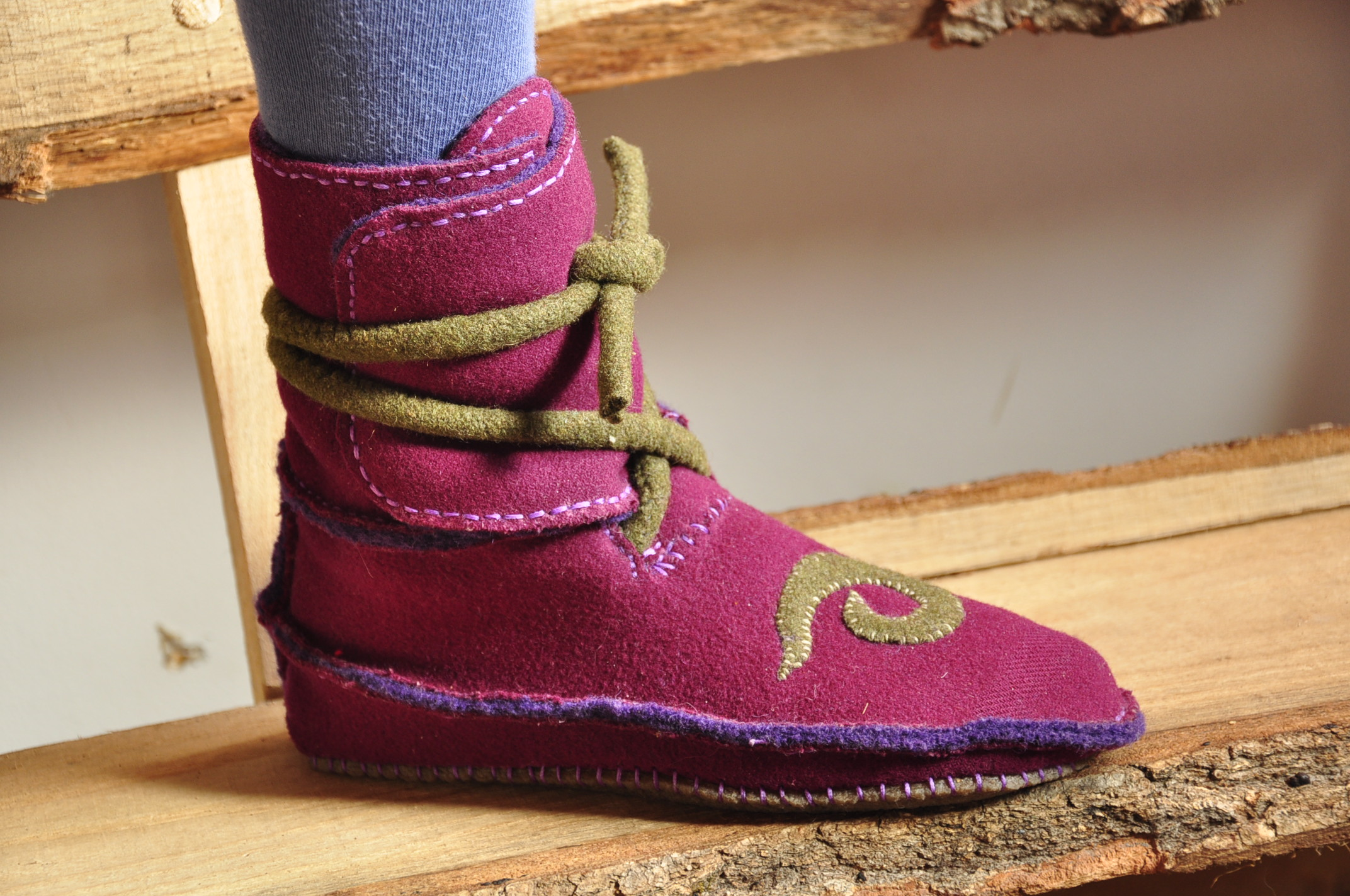 side-seam moccasin boot