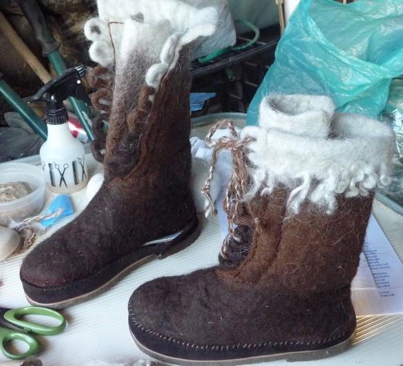 marlice's felted llama-wool boots