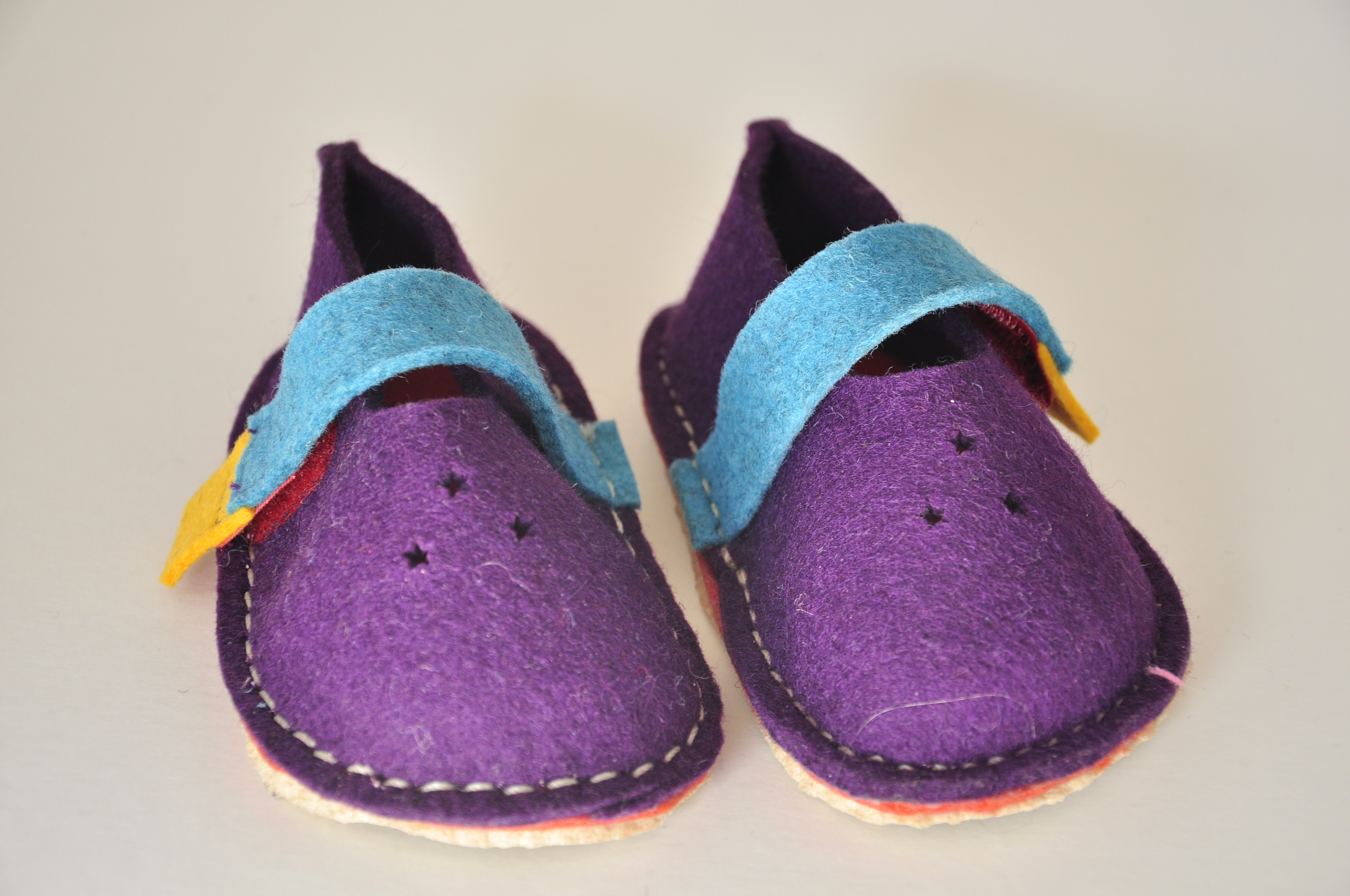 little felt velcro shoes